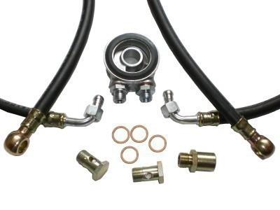 Ölkühler Einbausatz - Standard Schläuche (schwarz) - ohne Thermostat