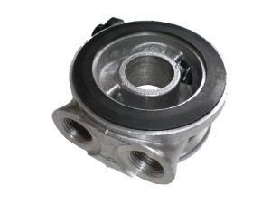 Ölfilter Adapter mit Thermostat M18 - für Ölkühler - Sandwichplatte