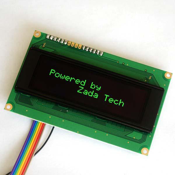 Zada Tech OLED Display 20x4 / GrÜn