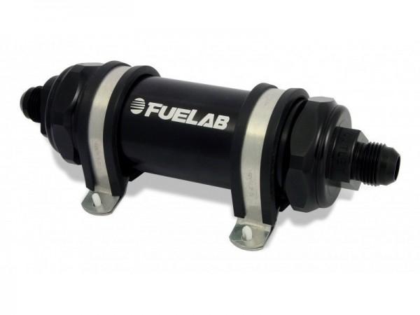 FueLab Benzinfilter / Kraftstofffilter mit Rückschlagventil 10micron -6AN