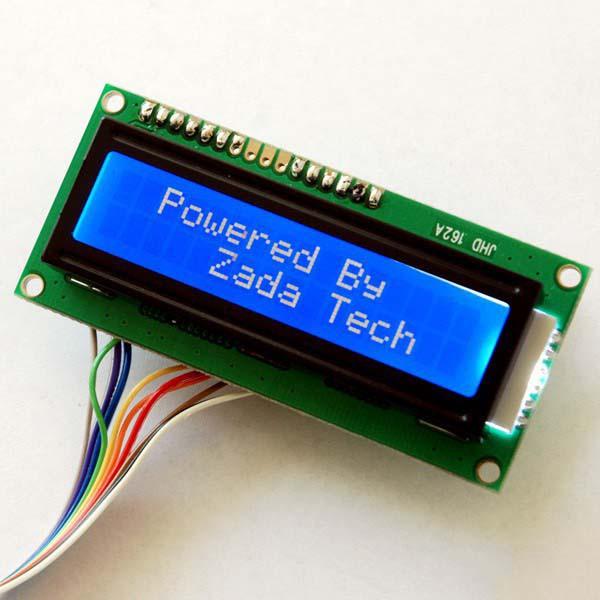 Zada Tech LCD 16x2 / blaue Schrift