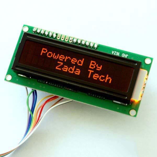 Zada Tech LCD 16x2 / oranger Hintergrund